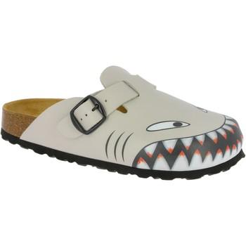 Schuhe Jungen Hausschuhe Lico Bioline clog hai grau