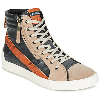 Schuhe Herren Sneaker High Diesel D-STRING PLUS Anthrazit / Camel