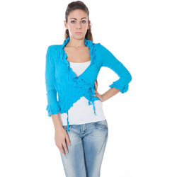 Kleidung Damen Strickjacken Phard P2300301A04000 IPOMY BLAU 1759