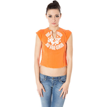 Kleidung Damen T-Shirts Zuelements Z1102080B001F7 ORANGE 3300