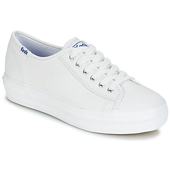 Schuhe Damen Sneaker Low Keds TRIPLE KICK CORE LEATHER Weiss