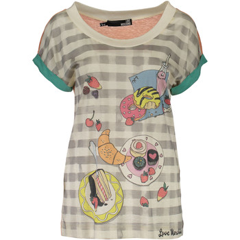 Kleidung Damen T-Shirts Love Moschino W 4 E18 01  M 3049 MULTICOLOR 4136