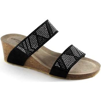 Schuhe Damen Pantoffel Grunland GRÜNLAND SEITE CB1210 schwarz Keil Sandelholzhefterzufuhren Stra Nero