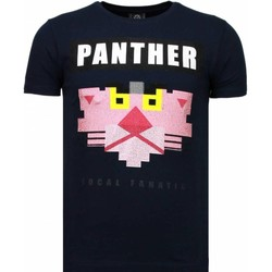 Kleidung Herren T-Shirts Local Fanatic Panther For A Cougar Strass Blau