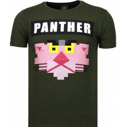 Kleidung Herren T-Shirts Local Fanatic Panther For A Cougar Strass Grün