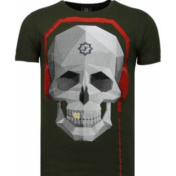 Kleidung Herren T-Shirts Local Fanatic Skull Bring The Beat Strass Grün
