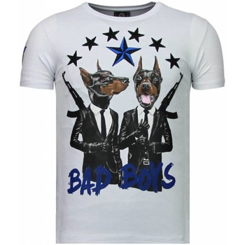 Kleidung Herren T-Shirts Local Fanatic Bad Boys Pinscher Strass Weiß