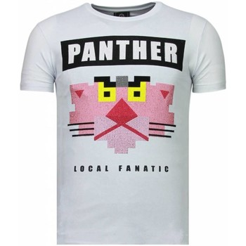 Kleidung Herren T-Shirts Local Fanatic Panther For A Cougar Strass Weiß