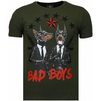 Kleidung Herren T-Shirts Local Fanatic Bad Boys Pinscher Strass Grün