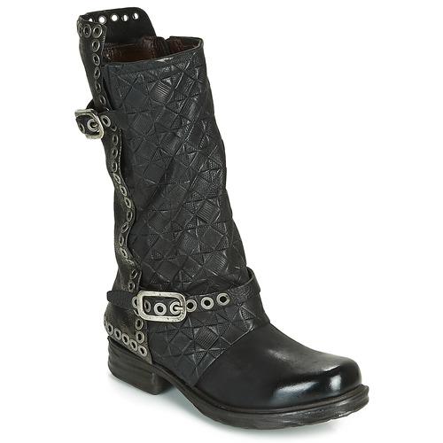 Schuhe Damen Klassische Stiefel Airstep / A.S.98 SAINT EC BUCKLE Schwarz