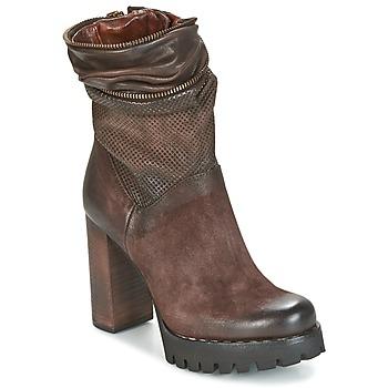 Schuhe Damen Low Boots Airstep / A.S.98 BLOC ZIP Braun