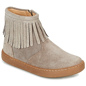 Schuhe Mädchen Boots Shoo Pom PLAY FRINGE Maulwurf / Platin