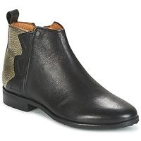 Schuhe Mädchen Boots Adolie ODEON WILD Schwarz / Platin