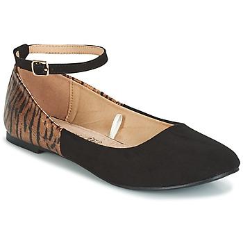 Schuhe Damen Ballerinas Moony Mood GLIMY Schwarz