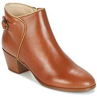 Schuhe Damen Low Boots M. Moustache ELEONORE.M Cognac / Gold