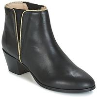 Schuhe Damen Low Boots M. Moustache JEANNE.M Schwarz / Gold