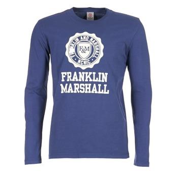 Kleidung Herren Langarmshirts Franklin & Marshall DESTU Marine
