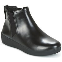 Schuhe Damen Low Boots FitFlop SUPERCHELSEA BOOT Schwarz
