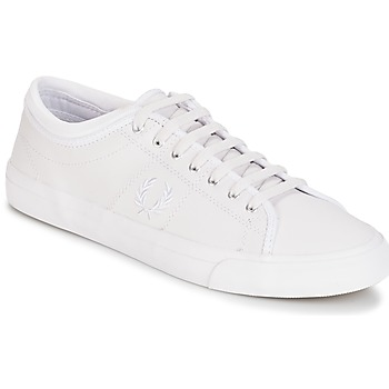 Schuhe Herren Sneaker Low Fred Perry KENDRICK TIPPED CUFF LEATHER Weiss
