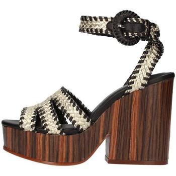 Schuhe Damen Sandalen / Sandaletten The Seller S5413 Platin / Schwarz