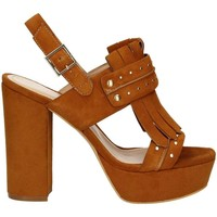 Schuhe Damen Sandalen / Sandaletten Bruno Premi K2603P High heeled sandals Frauen Brown Brown
