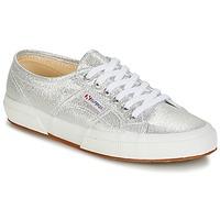 Schuhe Damen Sneaker Low Superga 2750-LAMEW Silber