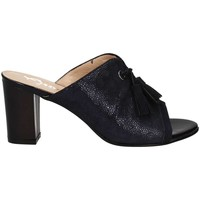 Schuhe Damen Pantoffel Grace Shoes E7823 Slippers Frauen Blue
