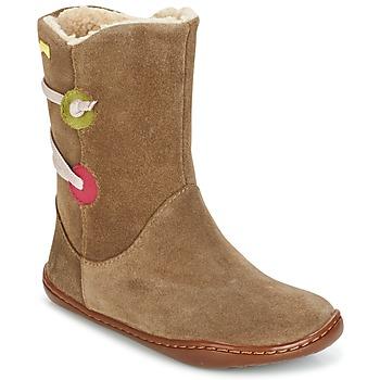 Schuhe Mädchen Boots Camper TWS Braun