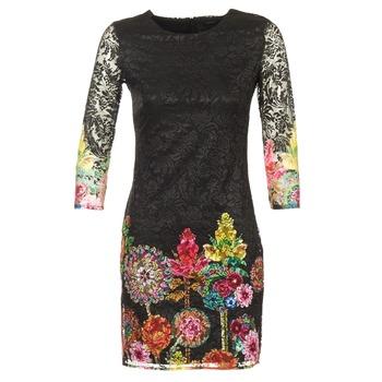 Kleidung Damen Kurze Kleider Desigual GRAFI Schwarz
