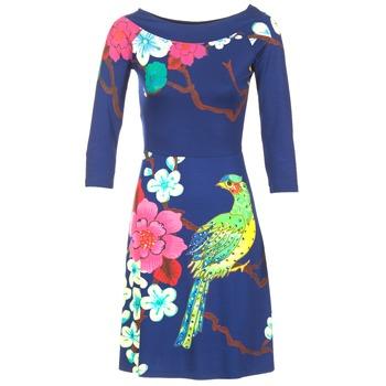 Kleidung Damen Kurze Kleider Desigual MARTA Blau