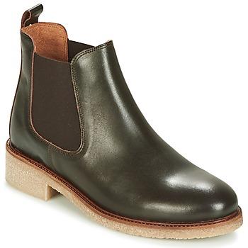 Schuhe Damen Boots Bensimon BOOTS CREPE Braun