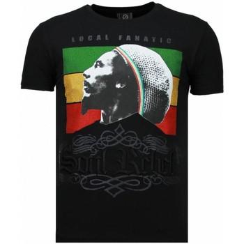 Kleidung Herren T-Shirts Local Fanatic Soul Rebel Bob Strass Schwarz