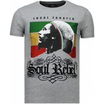 Kleidung Herren T-Shirts Local Fanatic Soul Rebel Bob Strass Grau