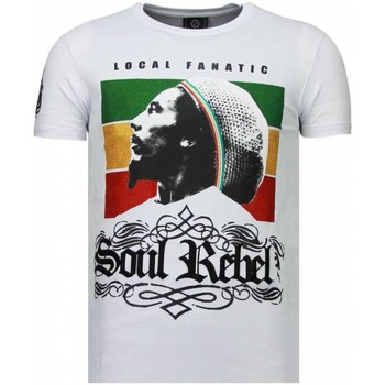 Kleidung Herren T-Shirts Local Fanatic Soul Rebel Bob Strass Weiß