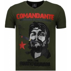 Kleidung Herren T-Shirts Local Fanatic Che Guevara Comandante Strass Grün