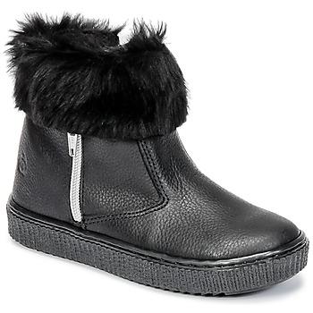 Schuhe Mädchen Boots Citrouille et Compagnie HOUPI Schwarz