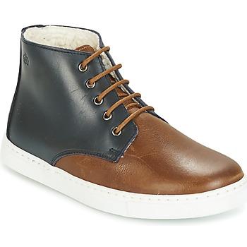 Schuhe Jungen Boots Citrouille et Compagnie HILABOUL Braun / Marine