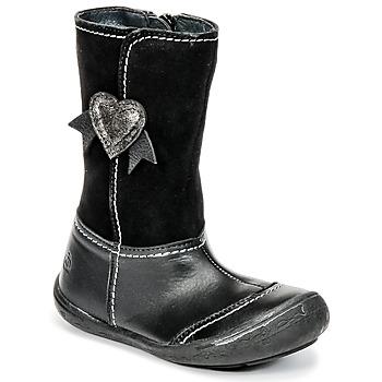 Schuhe Mädchen Klassische Stiefel Citrouille et Compagnie HYDIL Schwarz