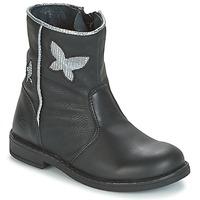 Schuhe Mädchen Boots Citrouille et Compagnie HORELI Schwarz