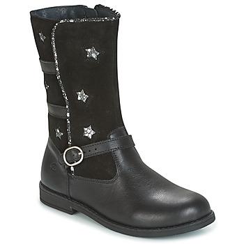 Schuhe Mädchen Klassische Stiefel Citrouille et Compagnie HANDRE Schwarz