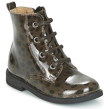 Schuhe Mädchen Boots Citrouille et Compagnie HEMANU Schwarz / Braun