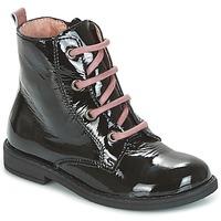 Schuhe Kinder Boots Citrouille et Compagnie HEMANU Schwarz / Rose