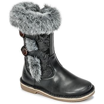 Schuhe Mädchen Klassische Stiefel Citrouille et Compagnie HOSY Schwarz