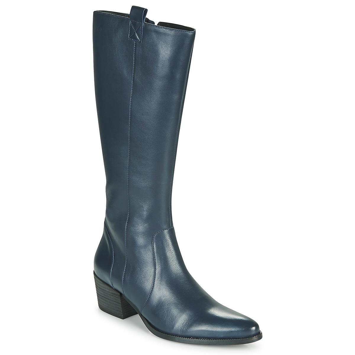 Betty London HERINE Blau - Kostenloser Versand bei Spartoode ! - Schuhe Klassische Stiefel Damen 155,00 €