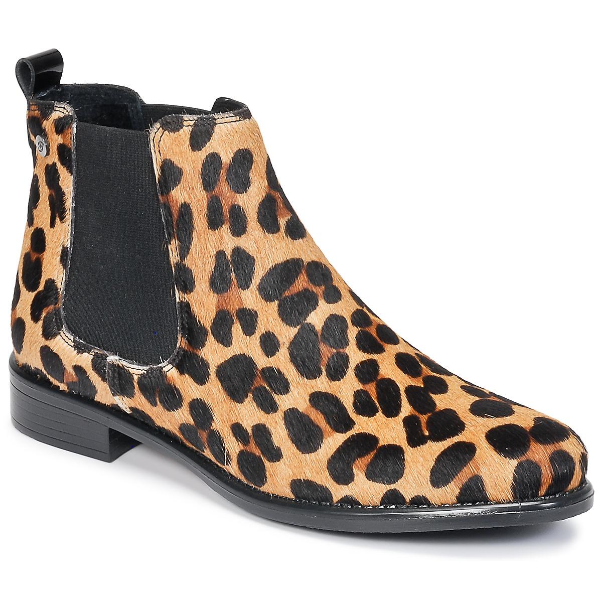 Betty London HUGUETTE Leopard - Kostenloser Versand bei Spartoode ! - Schuhe Boots Damen 99,99 €
