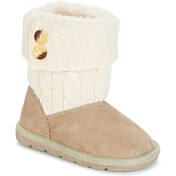 Schuhe Mädchen Boots Chicco CHARME Beige / Braun