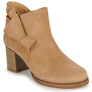 Schuhe Damen Low Boots Casual Attitude HIRCHE Beige