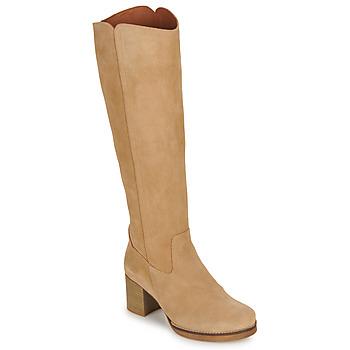 Schuhe Damen Klassische Stiefel Casual Attitude HAPI Beige