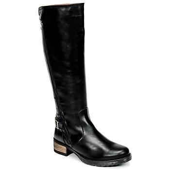 Schuhe Damen Klassische Stiefel Casual Attitude HAPO Schwarz