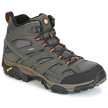 Schuhe Herren Wanderschuhe Merrell MOAB 2 MID GTX Grau